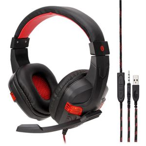 CASQUE AVEC MICROPHONE Filaire USB LED 3,5 mm Gaming Headset Casque avec
