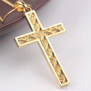 collier or homme croix