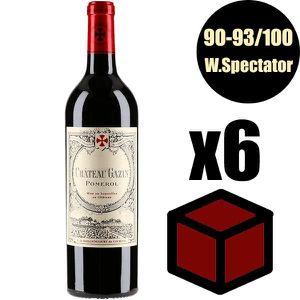 VIN ROUGE X6 Château Gazin 2014 75 cl AOC Pomerol Vin Rouge