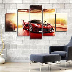 TABLEAU - TOILE lingzhishop,56593-(Unframed)Rouge de luxe voiture
