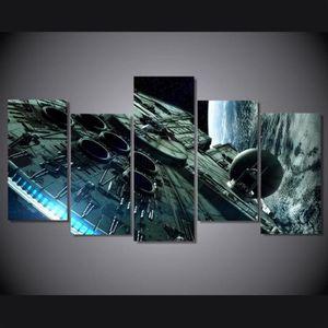 TABLEAU - TOILE 5 Pcs Sans Cadre Faucon Millenium Star Wars Peintu