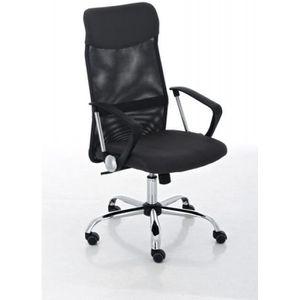 CHAISE DE BUREAU Fauteuil chaise de bureau en maille noir avec 5 ro