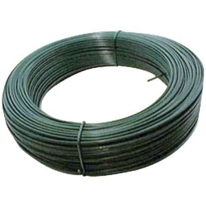 CLÔTURE - GRILLAGE Fil de tension galva plastifié L25m Ø2,4mm Vert