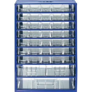 BOITE A COMPARTIMENT Armoire d'atelier 38 tiroirs bleu 307 x 465 x 1…