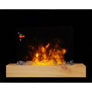 CHEMINÉE Chemin'arte - cheminée électrique 2000w noir - 179