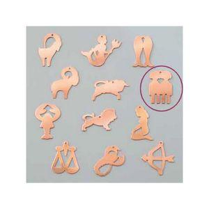 PENDENTIF VENDU SEUL Pendentif en cuivre Gémeaux signe astrologique , 3