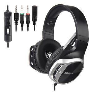 CASQUE AVEC MICROPHONE SADES R17 micro Gaming Headset, casque ultra-léger