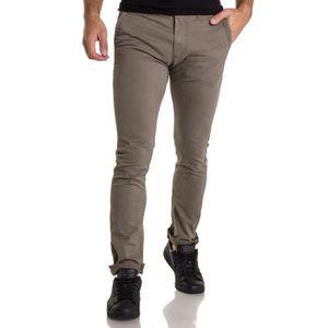 Wrangler Arizona homme coupe droite stretch OO Chinos Jeans vintage kaki tissu doux