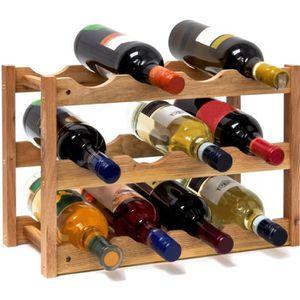 MEUBLE RANGE BOUTEILLE Relaxdays Casier à vin range bouteilles horizontal