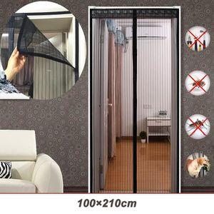Porte Moustiquaire pour Couloirs Portes Patio Rideau Anti Moustique Bogues 100 x 210cm YUEMING Magn/étique moustiquaire Vert