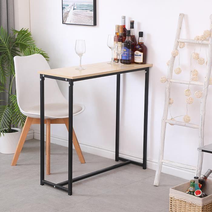Console design industriel Table de Bureau Pied Métal Noir