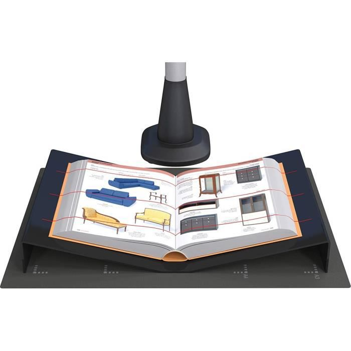 Porte-livre pour scanner sans contact et numériseur de livre. Pour numériser des ouvrages jusqu'au format A3. Fabriqué en acryliq
