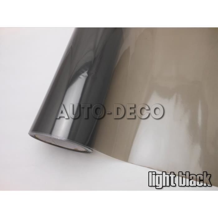 light black 30cm x 200cm -Autocollant en Film vinyle pour phare de voiture, 200cm, teinte pour feu arrière, feu de freinage, accesso