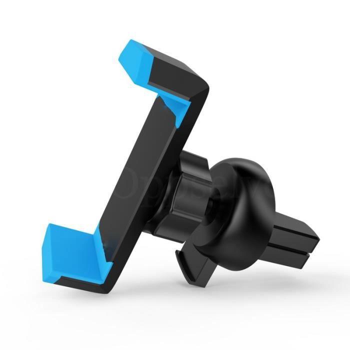 Support de téléphone de voiture pour iPhone 11 X Xs Max Xr 8 7 6 S Samsung Galaxy S9 S8 support de montage - Type Blue With Clip