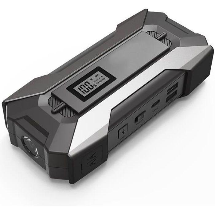 99990mAh Booster Batterie Démarrage Démarreur 12V USB Chargeur Voiture Starter Noir