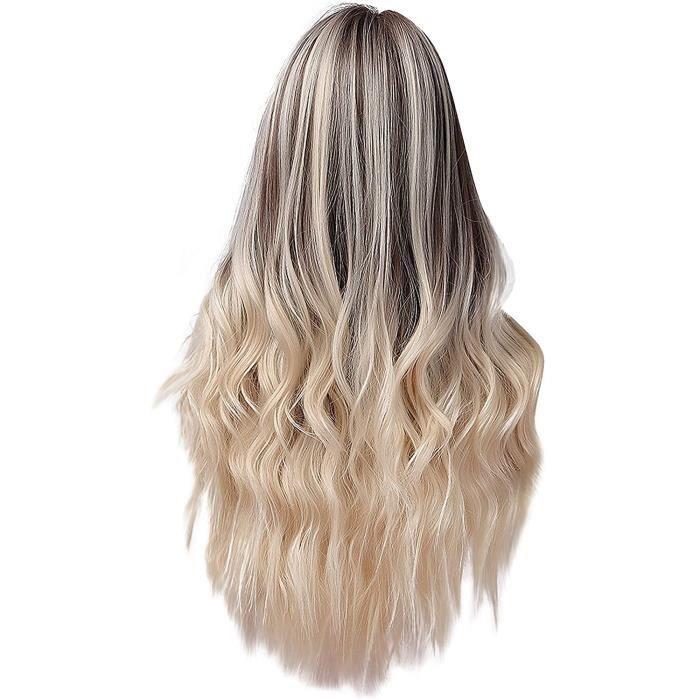 LINSINCH Perruque Femme Bresilienne Longue de Poire Curl Big Wave Racine de Cheveux Fonc&eacutes Lumi&egravere D&eacutegrad671