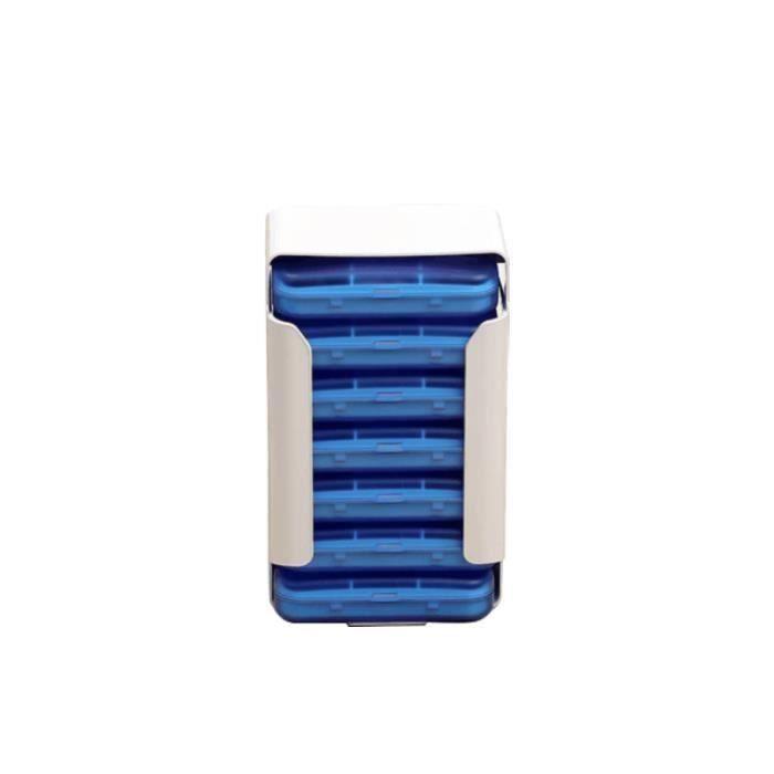Boîte à Pilules Pilulier Semainier 7 Jours 42 Compartiments Voyage Portable Distributeur Médicament Rangement Tiroir Type Wir3