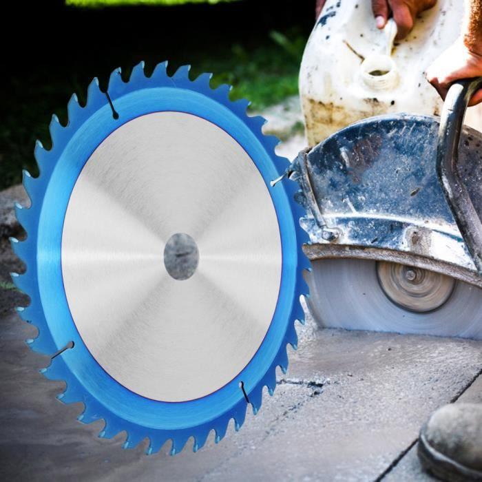 YOSOO Disques de coupe de bois Lame de scie circulaire en acier à grande vitesse Disque de coupe en bois TCT revêtu de NA plaqué