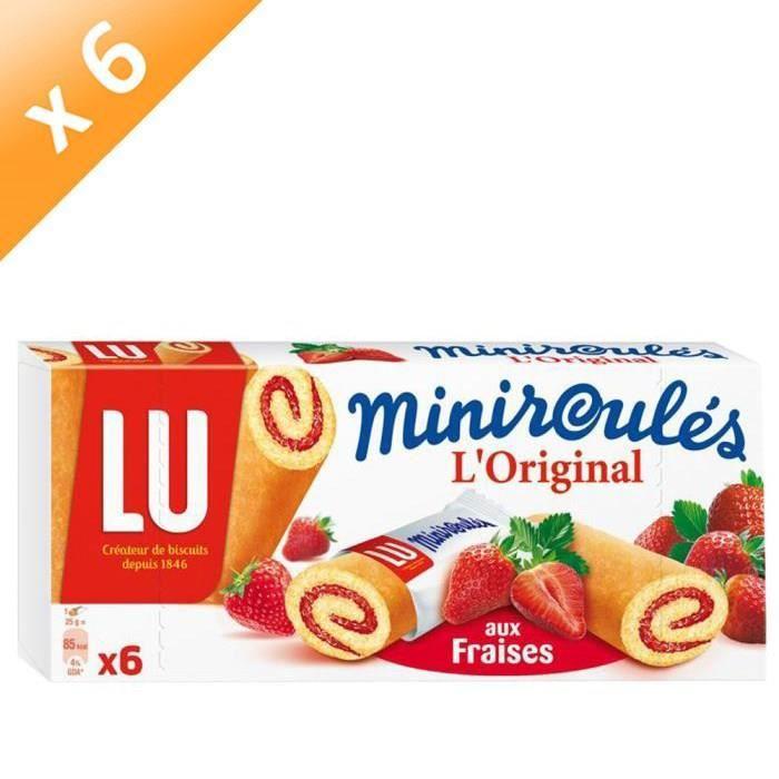 [LOT DE 6] Miniroulés fraises 150 g Lulu Miniroulés