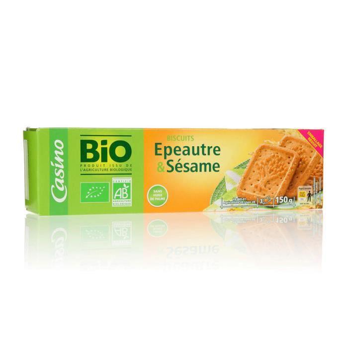 BOUVARD BISCUITS Biscuit blé épeautre et sésame - 150 g