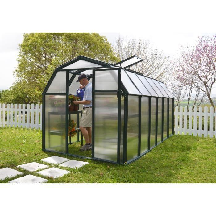 PALRAM Serre de jardin Ecogrow 7,6 m² - Résine et polycarbonate - Double parois