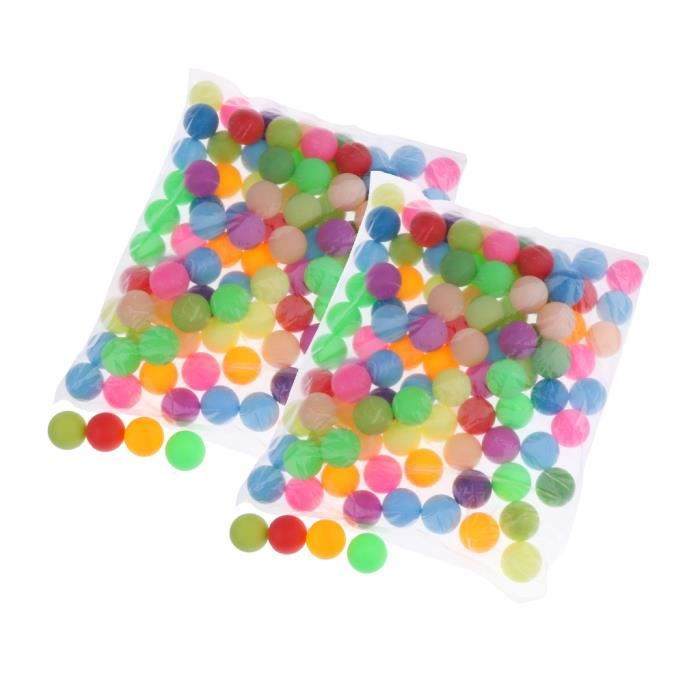 Pacquet 200pcs Balles De Tennis De Table / Ping Pong / Beer Pong - Coloré