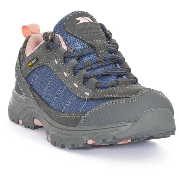 TREPASS Chaussures de randonnée Hamley - Enfant mixte - Noir et bleu