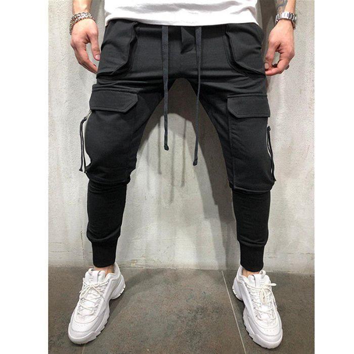 Pantalons De Jogging Pour Hommes Fitness Pantalons De Survêtement Skinny Pour Hommes Sportswear