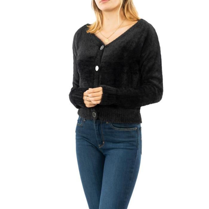 gilets cardigans guess jeans kristen jblk jet black a996