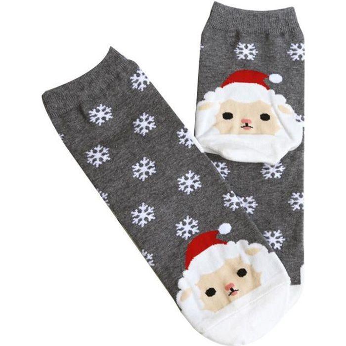 Chaussettes décontractées pour femmes de Noël Chaussettes unisexes mignonnes Chaussettes