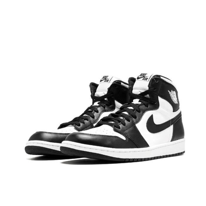 Air Jordan 1 Retro Black White (2014) GS Chaussures de Sport Basket AJ 1 Pas Cher pour Homme Femme Noir