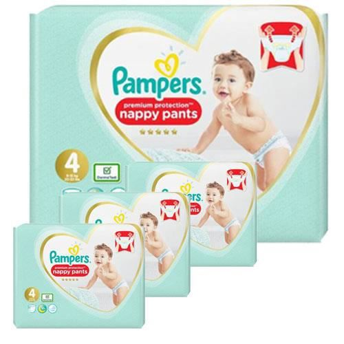 Pampers - 228 couches bébé Taille 4 premium protection pants