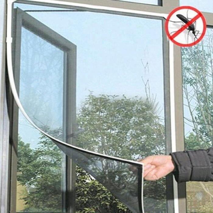 MOUSTIQUAIRE OUVERTURE Blanc Porte mouche insectes Anti moustiques Bug ri