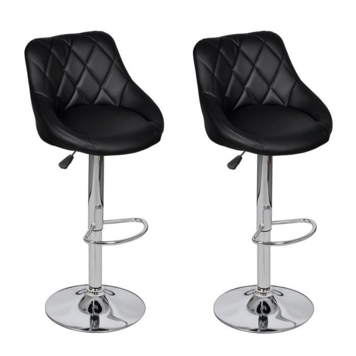 chaises de bar lot de 2 tabourets de bar noirs design moderne achat vente tabouret de bar. Black Bedroom Furniture Sets. Home Design Ideas