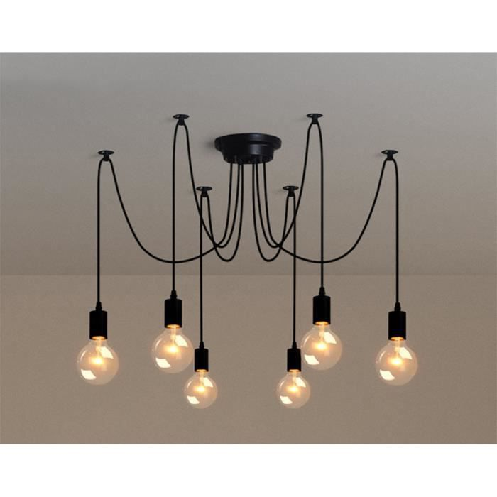 6pcs e27 douille retro suspensions luminaires vintage for Ampoule suspension luminaire