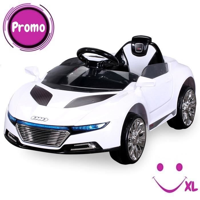 voiture lectrique pour enfants spyder a228 blanc achat. Black Bedroom Furniture Sets. Home Design Ideas