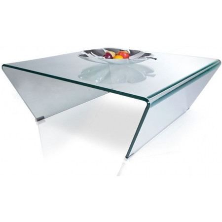 Table basse design texas en verre achat vente table for Tables basses de salon en verre