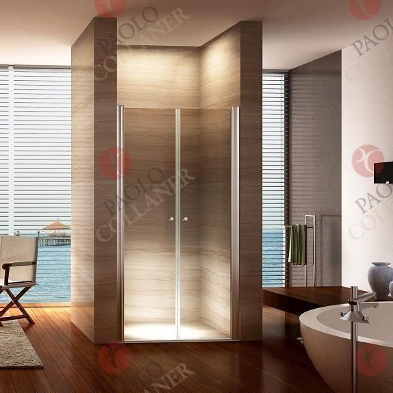 Porte de Douche 185 cm Largeur r/églable 96-100 cm Transparent
