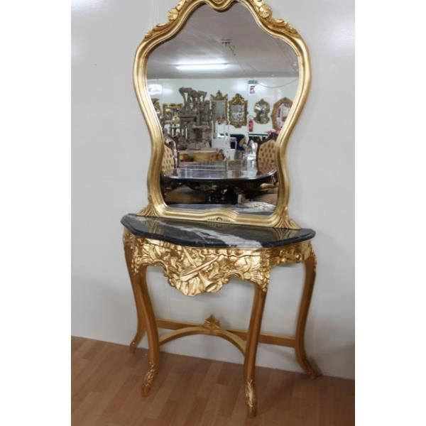 miroir noir baroque achat vente pas cher. Black Bedroom Furniture Sets. Home Design Ideas