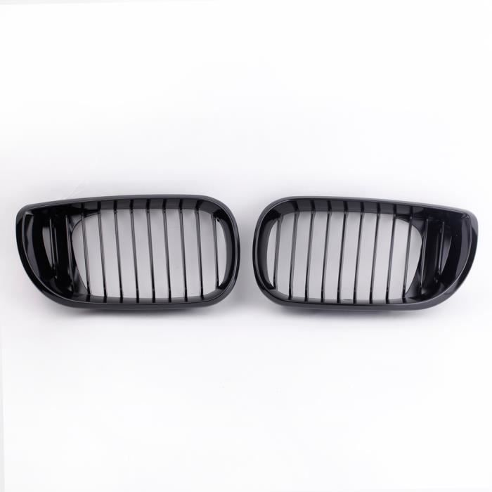 2pcs grille de feu antibrouillard gloss noir rein calandre pour bmw e46 s rie 3 4 portes 2002. Black Bedroom Furniture Sets. Home Design Ideas