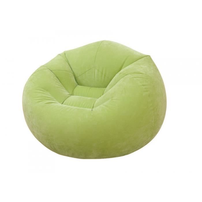 fauteuil gonflable intex poire pop vert achat vente fauteuil cdiscount. Black Bedroom Furniture Sets. Home Design Ideas