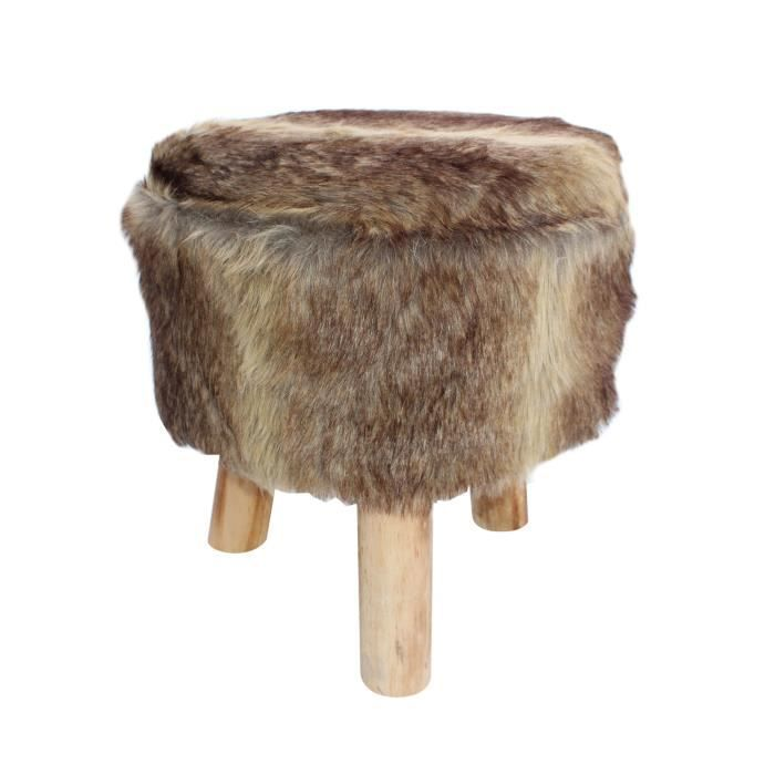 tabouret imitation fourrure lion achat vente tabouret acrylique 70 coton 30 polyester. Black Bedroom Furniture Sets. Home Design Ideas