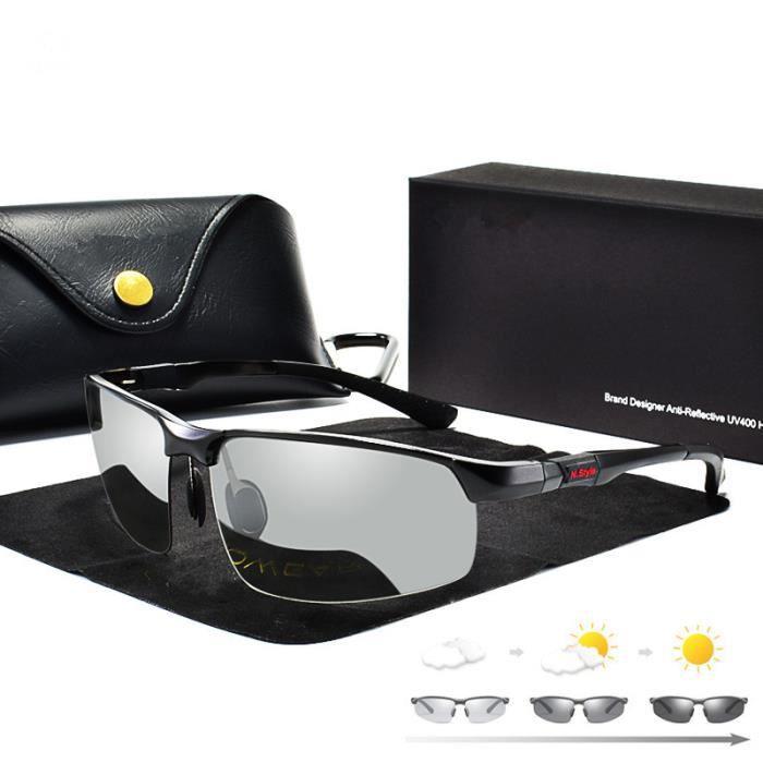 LUNETTES DE SOLEIL Photochromiques hommes lunettes caméléon polarisée