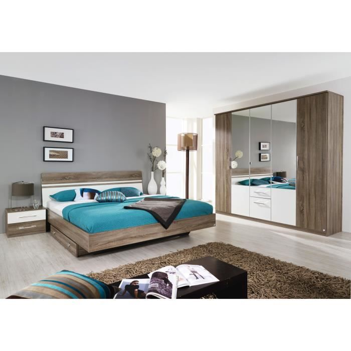 chambre adulte compl te charline ii sans tiroir lit achat vente chambre compl te chambre. Black Bedroom Furniture Sets. Home Design Ideas
