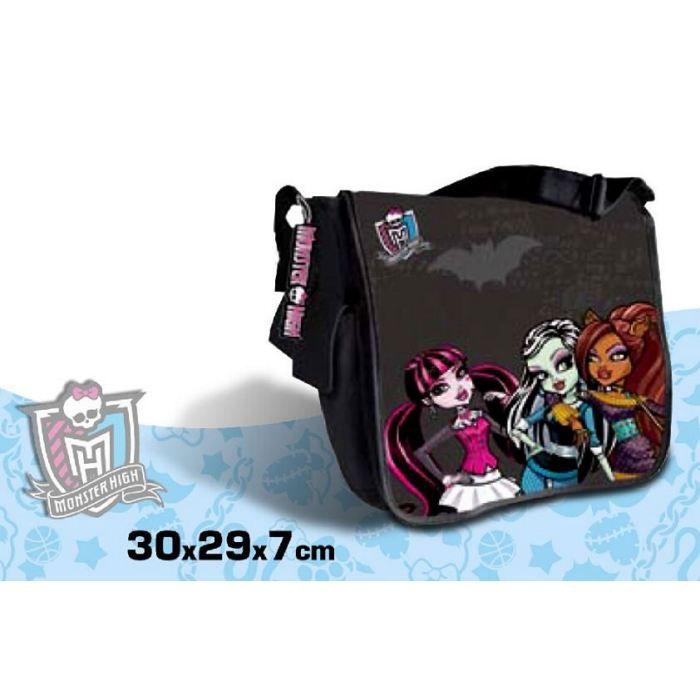 monster high sac en bandouli re cartable d 39 cole achat vente cartable monster high sac d. Black Bedroom Furniture Sets. Home Design Ideas
