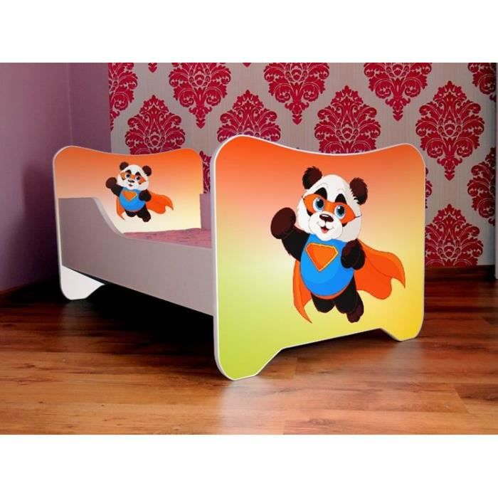 lit enfant b b 140x70 cm matelas cadeau panda achat. Black Bedroom Furniture Sets. Home Design Ideas