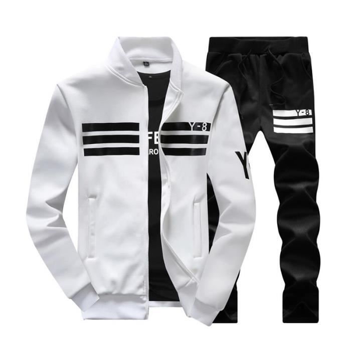 ensemble de v tements sportswear pour homme blanc blanc achat vente ensemble de v tements. Black Bedroom Furniture Sets. Home Design Ideas