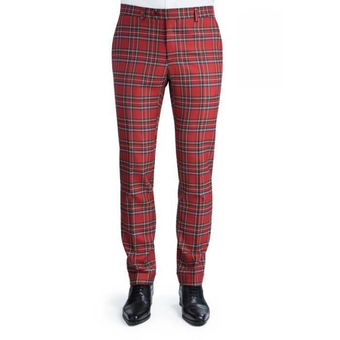 pantalon homme ecossais