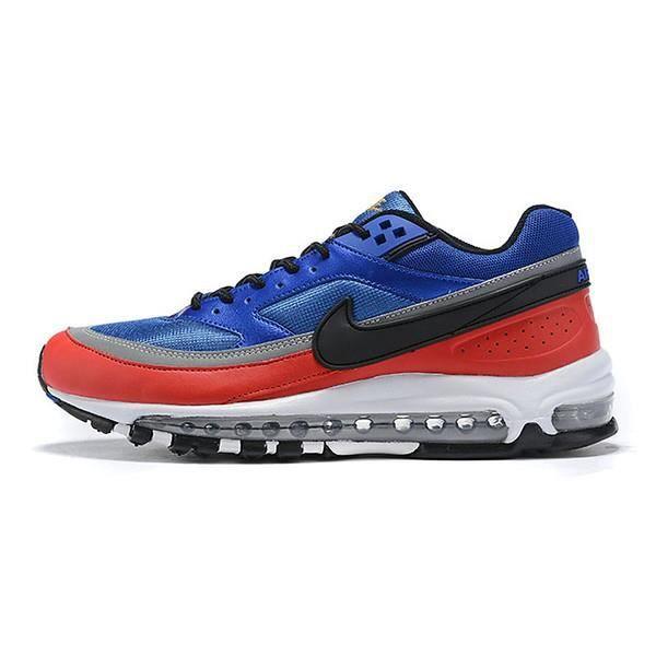 Nike Air Max 97 BW Baskets Chaussures de Course Bleu royal rouge ...