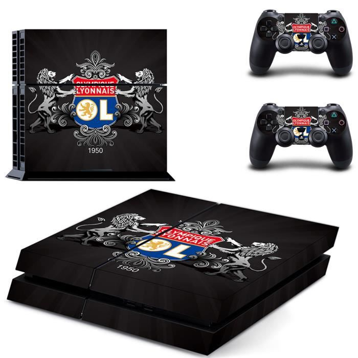 jwmall lyon football ps4 sticker skin stickerbomb autocollant film console sony playstation 4. Black Bedroom Furniture Sets. Home Design Ideas